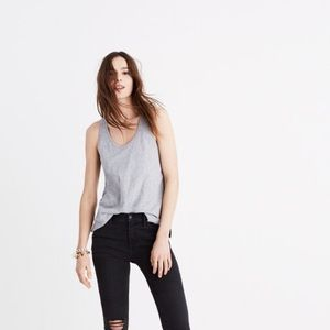 [Madewell] Whisper Cotton Scoop Tank Top Gray